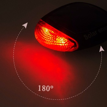 1pc Red LED Light Solar Power MTB Cycling Bike Bicycle Tail Rear Back Light Waterproof 2 High Bright Bike Lamp Taillight Biking