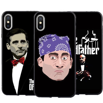 Godfather Michael Scott Telefonu iPhone için kılıf XS MAX XR Ofis Silikon Kapak Için iPhone X 7 7 Artı 8 Artı 6 6 s Artı 5 5 S SE